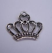 Tiara Crown Wine Glass Charm - Full Bead Style